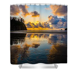 Olympic Sunset Glow Shower Curtain