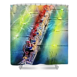 Olympics Rowing 02 Shower Curtain