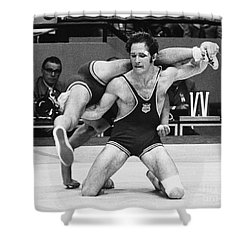 Olympics: Wrestling, 1972 Shower Curtain