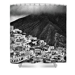 Olympos. Karpathos Island Greece Shower Curtain by Silvia Ganora