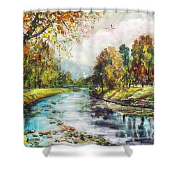 Olza River Shower Curtain