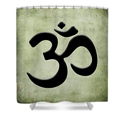 Shower Curtain featuring the painting Om Green by Kandy Hurley