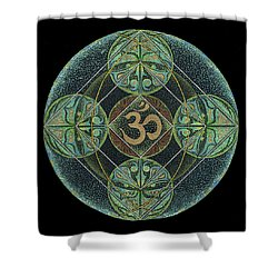 Shower Curtain featuring the painting Om by Keiko Katsuta