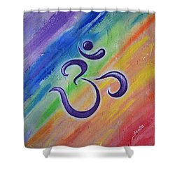 Om Mural Shower Curtain