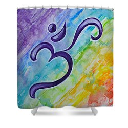 Chakra Splash Shower Curtain