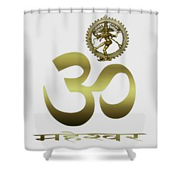 Shower Curtain featuring the photograph Om Shiva by Robert G Kernodle