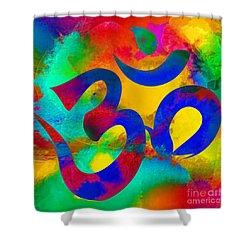 Om Symbol, Rainbow Shower Curtain