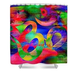 Om Symbol, Rainbow, Ver4 Shower Curtain