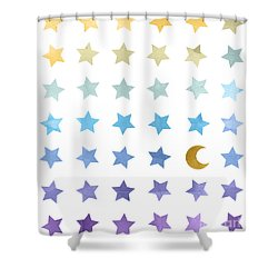 Ombre Cosmos Shower Curtain by Whitney Morton