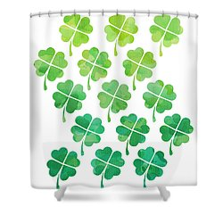 Ombre Shamrocks Shower Curtain by Whitney Morton