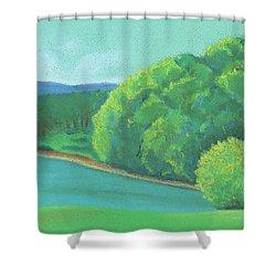Omega Morning Shower Curtain
