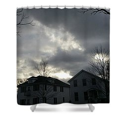 Ominous Clouds Shower Curtain by Diamante Lavendar