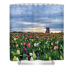 Ominous Spring Skies Shower Curtain