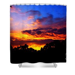 Ominous Sunset Shower Curtain
