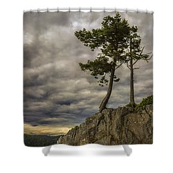 Ominous Weather Shower Curtain by Ed Clark
