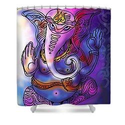 Omkareshvar Ganesha Shower Curtain