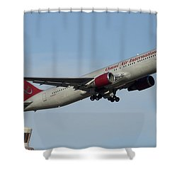 Omni Air International Boeing 767-319 N396ax Phoenix Sky Harbor January 2 2015 Shower Curtain by Brian Lockett