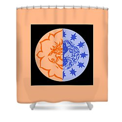 Omniscire Eclipse Logo Shower Curtain by Dawn Sperry
