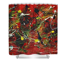 Shower Curtain featuring the painting On A High Note by Jacqueline Athmann