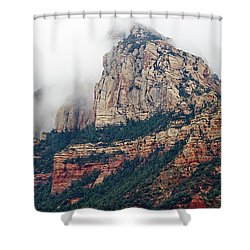 Shower Curtain featuring the photograph On A Misty Day by Phyllis Denton