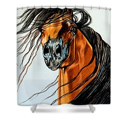 On A Windy Day-dream Horse Series #2003 Shower Curtain