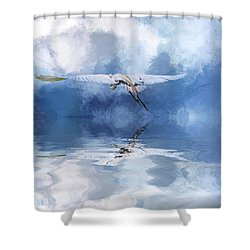 On A Wing And A Prayer Shower Curtain by Cyndy Doty
