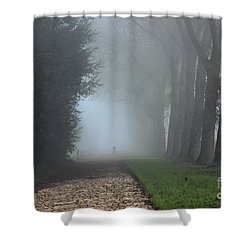 On An Autumn Day In The Mist Shower Curtain