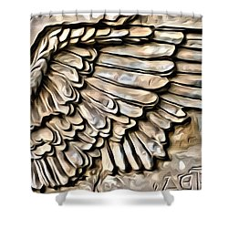 On Angels Wings Shower Curtain