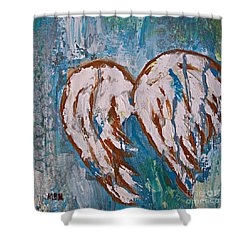 On Angel Wings Shower Curtain