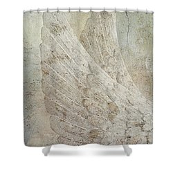 On Angels Wings 2 Shower Curtain