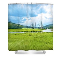 On Approach Shower Curtain
