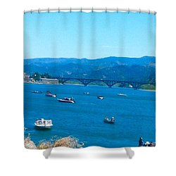 On Board For Fun  Shower Curtain