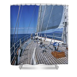 On Deck Off Mexico Shower Curtain