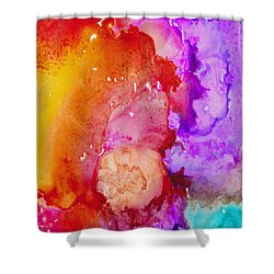 On Fire Shower Curtain by Angela Treat Lyon