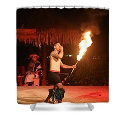 On Fire In Tahiti Shower Curtain