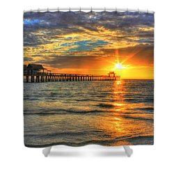 Shower Curtain featuring the digital art On Fire by Sharon Batdorf