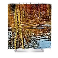 On Golden Pond Shower Curtain by Carol F Austin