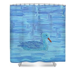 On His Way IIi Shower Curtain