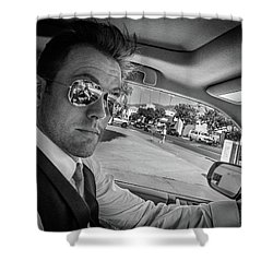 On His Way To Be Wed... Shower Curtain