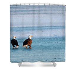 On Ice Shower Curtain