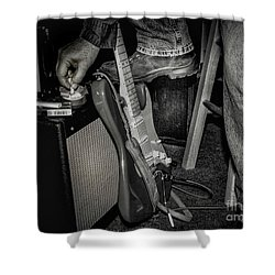 On In Two Minutes Shower Curtain by Robert Frederick