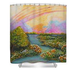 On My Way Shower Curtain by Holly Carmichael