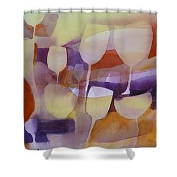 On Ne Voit Que Des Tulipes Shower Curtain by Donna Acheson-Juillet