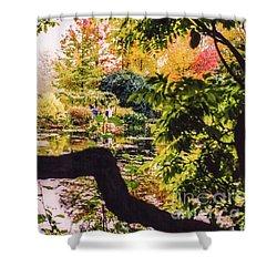 On Oscar - Claude Monet's Garden Pond  Shower Curtain