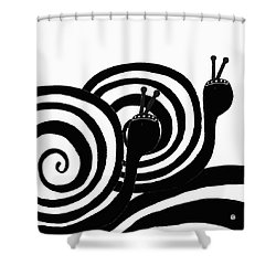 Shower Curtain featuring the painting On Our Way by Lisa Weedn