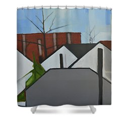 On Palisade Shower Curtain by Ron Erickson