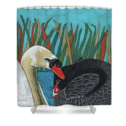 On Peaceful Pond Shower Curtain