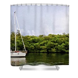 On Quiet Waters Shower Curtain