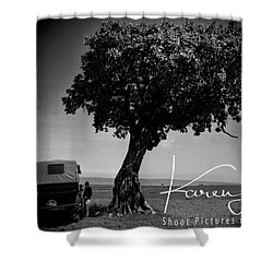 Shower Curtain featuring the photograph On Safari by Karen Lewis