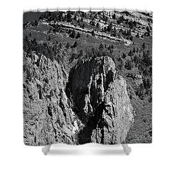 On Sandia Mountain Shower Curtain
